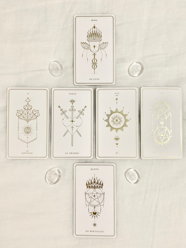 Image of tarot spread for the month of September